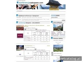 Zrzut ekranu strony www.konferencjezakopane.com