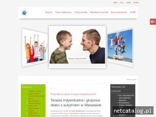 Zrzut ekranu strony www.terapia-adhd.waw.pl