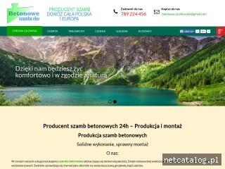 Zrzut ekranu strony www.szambabetonowe-24.pl