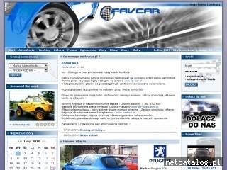 Zrzut ekranu strony favcar.pl