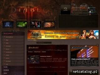 Zrzut ekranu strony www.diabloportal.pl