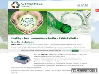 Zrzut ekranu strony www.recyklingskup.podlasie.pl