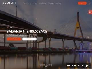Zrzut ekranu strony www.palab.pl