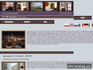 Zrzut ekranu strony www.apartments.warszawa.pl