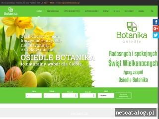 Zrzut ekranu strony www.osiedlebotanika.pl