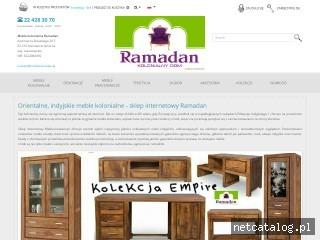 Zrzut ekranu strony www.mebleramadan.pl