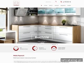 Zrzut ekranu strony www.meblepaprocki.pl