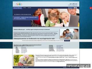 Zrzut ekranu strony www.ubezpieczeniamalopolska.com.pl
