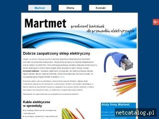 Zrzut ekranu strony www.koncowkikablowemartmet.pl