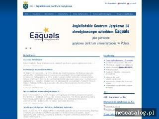 Zrzut ekranu strony www.jcj.uj.edu.pl