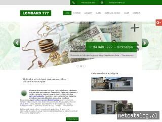 Zrzut ekranu strony www.lombard777.pl