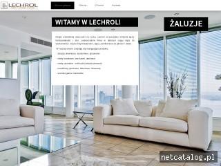 Zrzut ekranu strony www.lechrol.pl