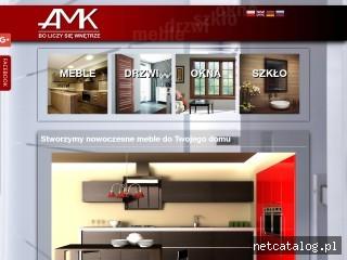 Zrzut ekranu strony www.amkwnetrze.pl