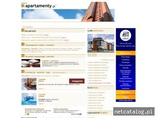 Zrzut ekranu strony www.lazienki.apartamenty.pl