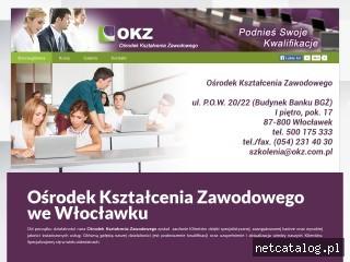 Zrzut ekranu strony okz.wloclawek.pl