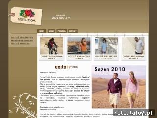 Zrzut ekranu strony www.exitogroup.fotl.pl