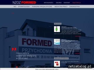 Zrzut ekranu strony www.nzozformed.pl