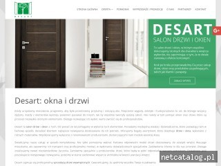 Zrzut ekranu strony www.desart.tychy.pl