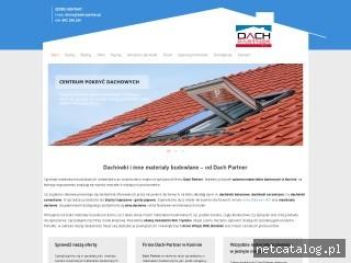 Zrzut ekranu strony www.dach-partner.pl