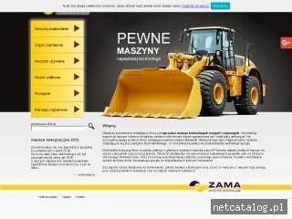 Zrzut ekranu strony zama.com.pl