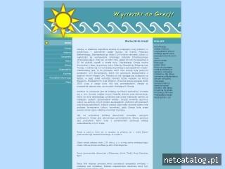 Zrzut ekranu strony www.greckie.info