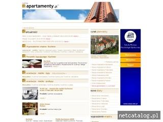 Zrzut ekranu strony www.kuchnie.apartamenty.pl