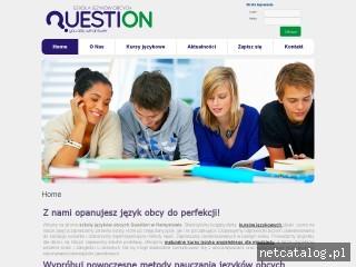 Zrzut ekranu strony www.question.edu.pl