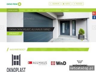 Zrzut ekranu strony oknoprim.com.pl