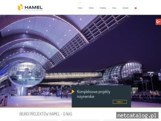 Zrzut ekranu strony www.hamel.pl