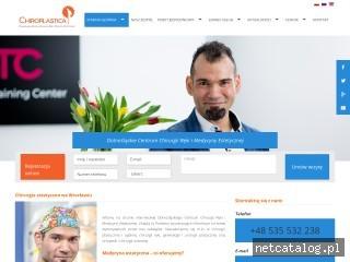 Zrzut ekranu strony chiroplastica.pl