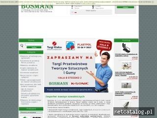 Zrzut ekranu strony bosmann.com.pl