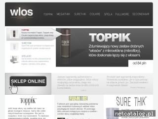 Zrzut ekranu strony www.wlos.com.pl