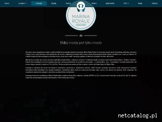 Zrzut ekranu strony www.marina-royale.pl