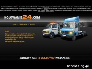 Zrzut ekranu strony www.holowanie24.com