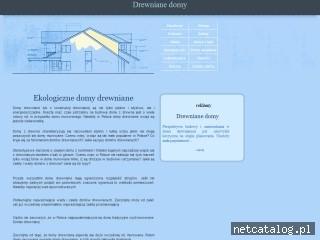 Zrzut ekranu strony www.ekodomydrewniane.com