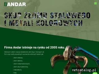 Zrzut ekranu strony www.andar.ox.pl