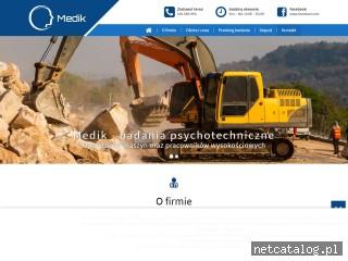 Zrzut ekranu strony www.badanie-psychotechniczne.pl