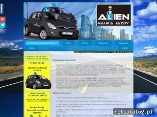 Zrzut ekranu strony www.alien.szczecin.pl