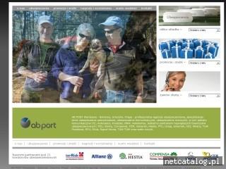 Zrzut ekranu strony www.abport.pl