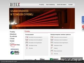 Zrzut ekranu strony www.ditec.pl