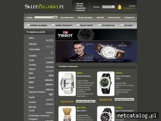 Zrzut ekranu strony www.sklepzegarki.pl
