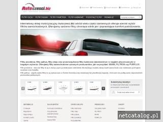 Zrzut ekranu strony www.autoczesci.biz