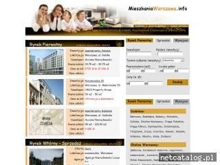 Zrzut ekranu strony www.mieszkaniawarszawa.info
