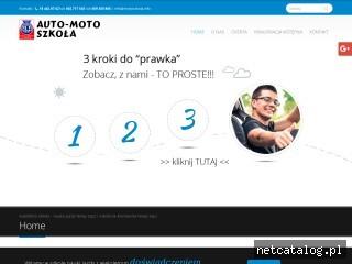 Zrzut ekranu strony motoszkola.info