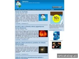 Zrzut ekranu strony tajemnice.estrefa.net