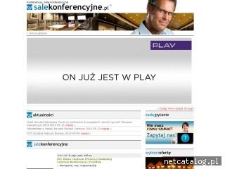 Zrzut ekranu strony www.salekonferencyjne.pl