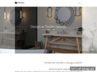 Zrzut ekranu strony www.indesignergroup.pl