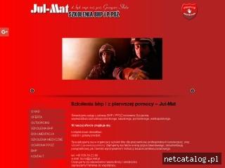 Zrzut ekranu strony jul-mat.pl