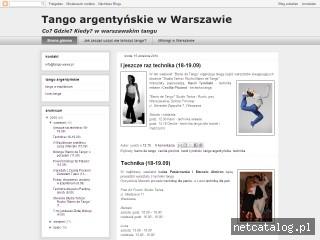 Zrzut ekranu strony www.tango-wawa.pl