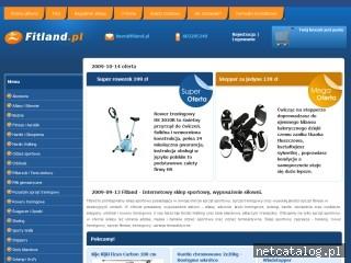 Zrzut ekranu strony www.fitland.pl